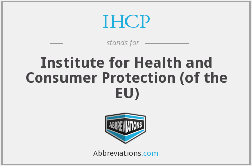 What does IHCP stand for?