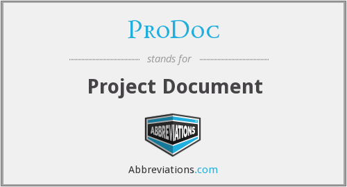 What does PRODOC stand for?