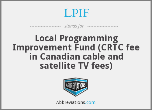 What does LPIF stand for?