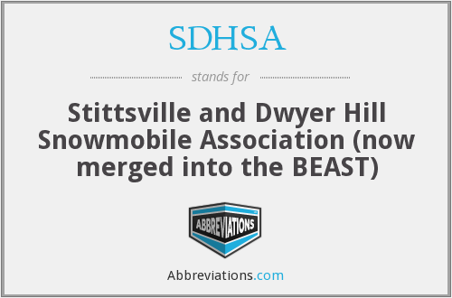 What does SDHSA stand for?
