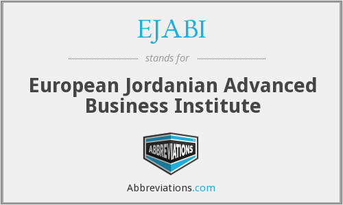 What does EJABI stand for?