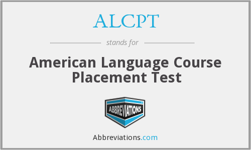 What does ALCPT stand for?