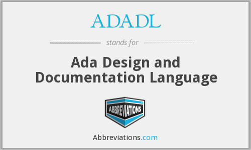 What does ADADL stand for?