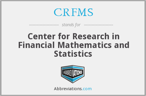 What does CRFMS stand for?