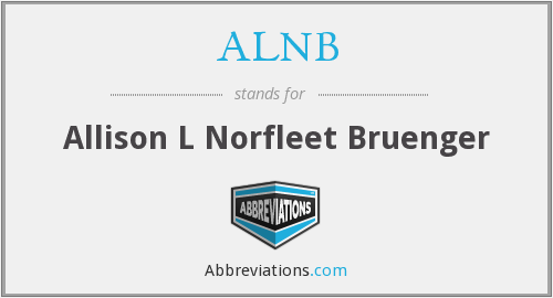 What does ALNB stand for?