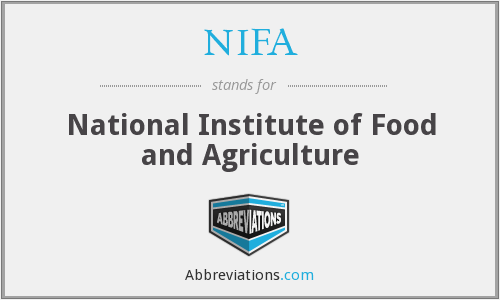 What does NIFA stand for?