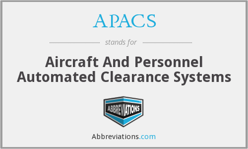 What does APACS stand for?