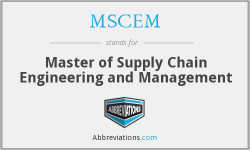 What does MSCEM stand for?