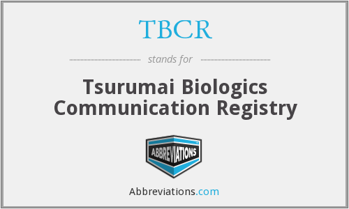 What does TBCR stand for?