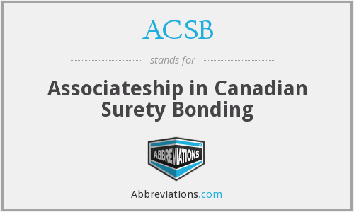 What does ACSB stand for?