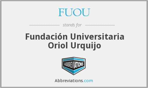 What does FUOU stand for?