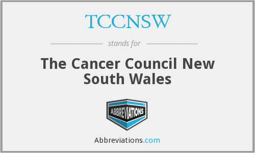 What does TCCNSW stand for?