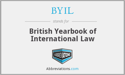 What does BYIL stand for?