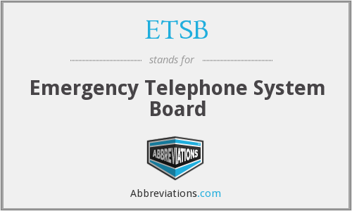 What does ETSB stand for?
