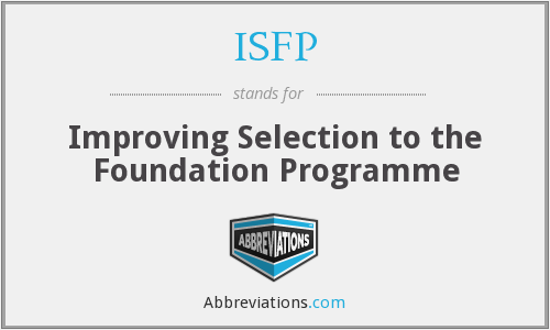 What does ISFP stand for?