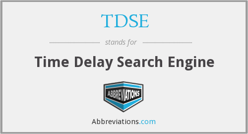 What does TDSE stand for?