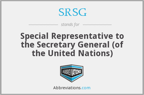 What does SRSG stand for?