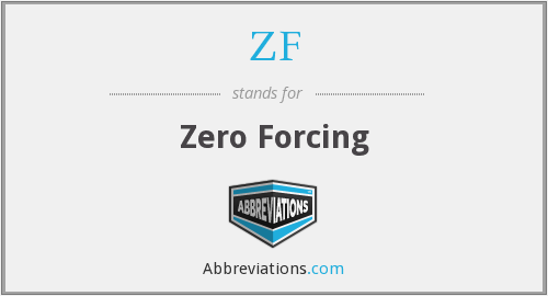 What does ZF stand for?