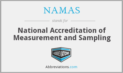 What does NAMAS stand for?