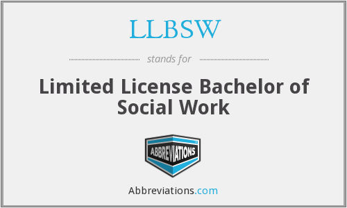What does LLBSW stand for?