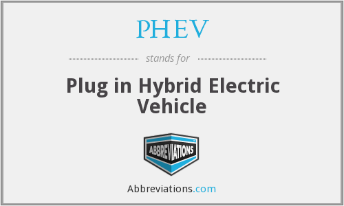 What does PHEV stand for?