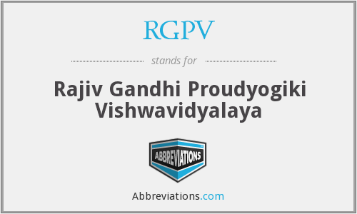 What does RGPV stand for?