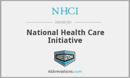 What does NHCI stand for?