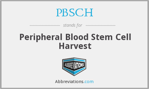 What does PBSCH stand for?