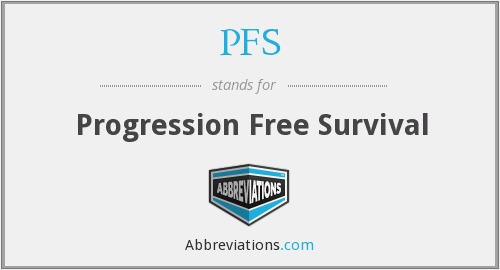 What does PFS stand for?