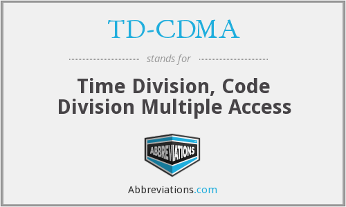 What does TD-CDMA stand for?