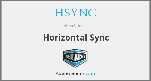 What does HSYNC stand for?