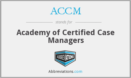 What does ACCM stand for?