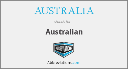 What does AUSTRALIA stand for?