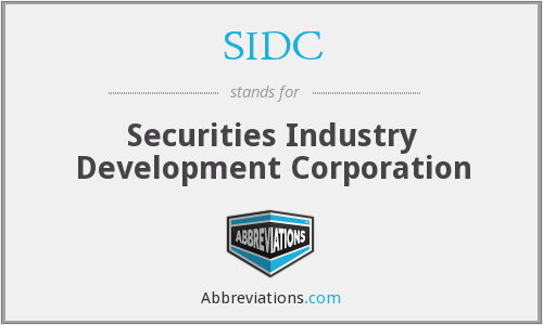 What does SIDC stand for?