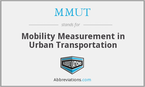 What does MMUT stand for?