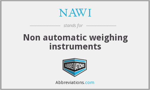 What does NAWI stand for?