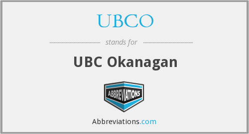 What does UBCO stand for?