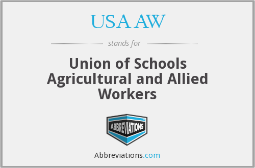 What does USAAW stand for?
