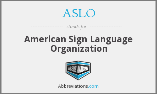 What does ASLO stand for?