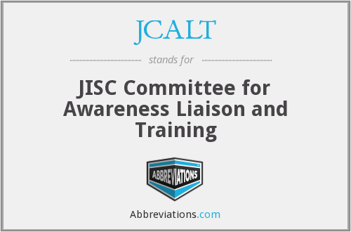 What does JCALT stand for?