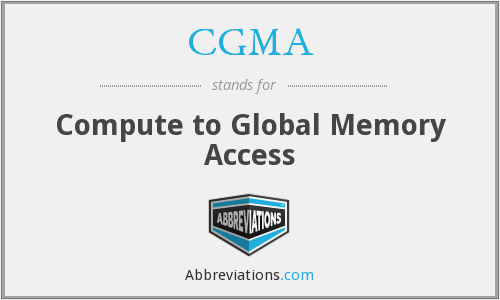 What does CGMA stand for?
