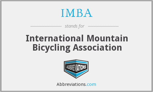 What does IMBA stand for?