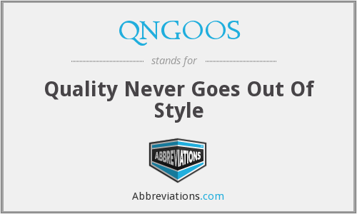 What does QNGOOS stand for?