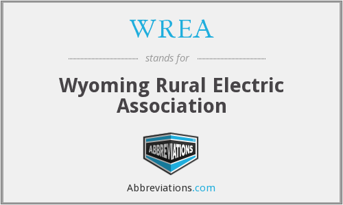 What does WREA stand for?
