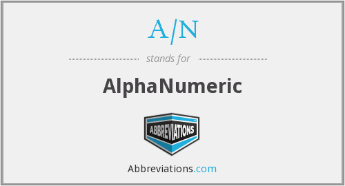 What does A/N stand for?