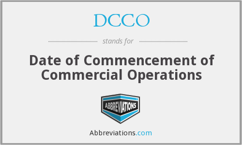 What does DCCO stand for?