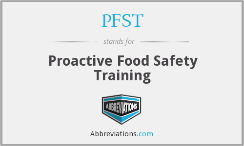 What does PFST stand for?