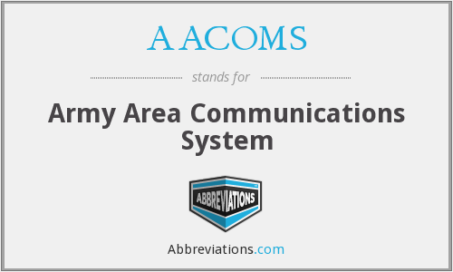 What does AACOMS stand for?