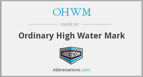 What does OHWM stand for?