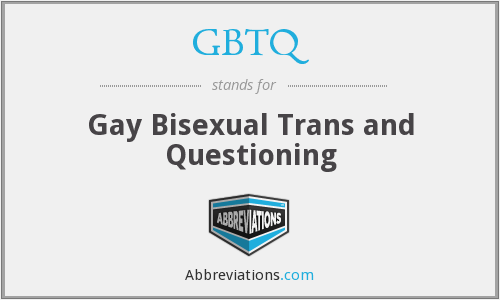 What does GBTQ stand for?